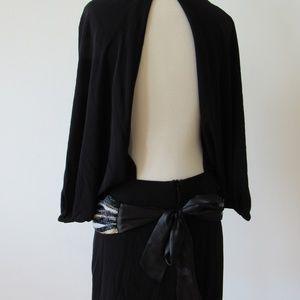PATRICIA FIELD sequin belt dress w/ open back